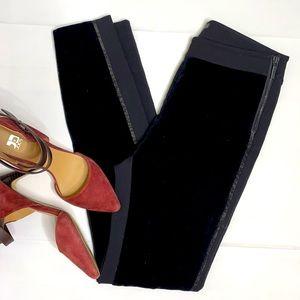 Armani Exchange velvet front skinny pants EUC
